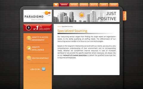 Screenshot of Support Page paradigmo.com - Specialized Sourcing - Paradigmo - captured May 14, 2017