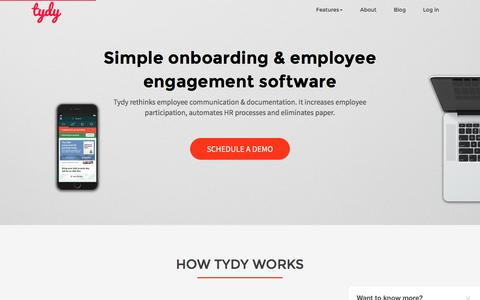 Simple onboarding & employee engagement software by tydy