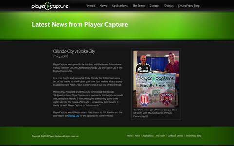 Screenshot of Press Page playercapture.com - Player Capture | News - captured Sept. 30, 2014