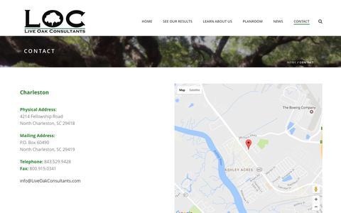 Screenshot of Contact Page liveoakconsultants.com - Contact – Live Oak Consultants - captured May 20, 2017