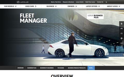 Lexus Fleet Cars | Lexus UK