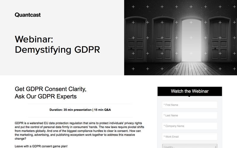 Quantcast Webinar: Demystifying Consent with Quantcast Choice