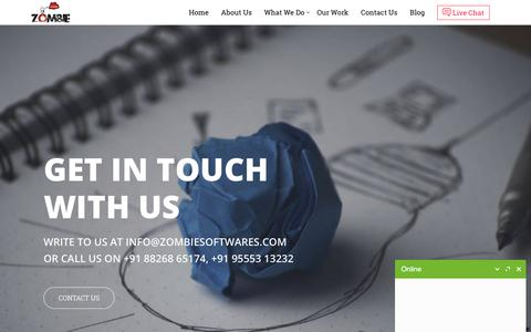 Screenshot of Home Page zombiesoftwares.com - Outsourcing Company India | Offshore Outsourcing India | Zombie Softwares - captured Oct. 12, 2017