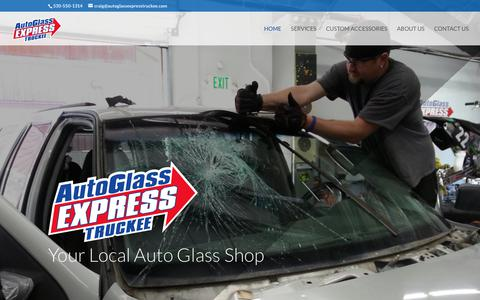 Screenshot of Home Page autoglassexpresstruckee.com - Autoglass Express Truckee | Autoglass Express Truckee - captured July 31, 2018