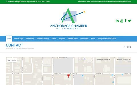 Screenshot of Maps & Directions Page anchoragechamber.org - The Anchorage Chamber of Commerce - The Anchorage Chamber of Commerce - captured Feb. 6, 2016