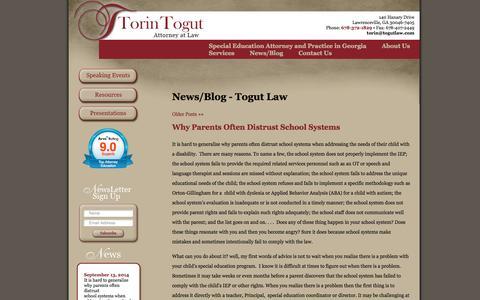 Screenshot of Press Page togutlaw.net - News/Blog  - Togut Law Togut Law - captured Oct. 9, 2014