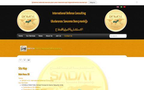 Screenshot of Site Map Page sadat.com.tr - Site Map - captured Feb. 3, 2016