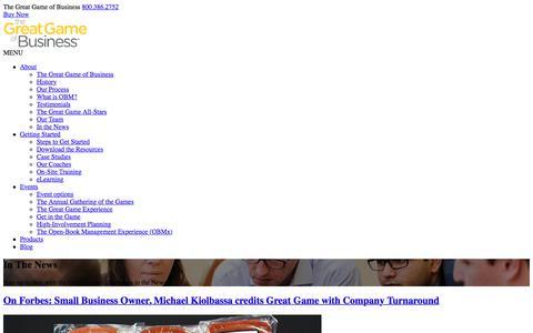 Screenshot of Press Page greatgame.com captured April 17, 2018