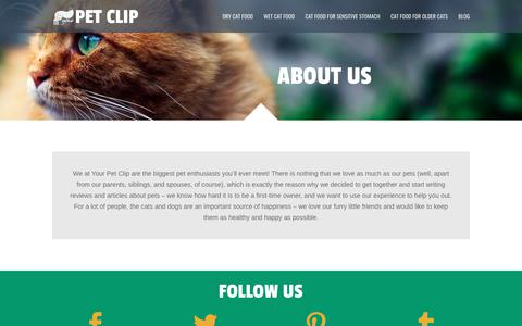 Screenshot of About Page yourpetclip.com - About - Your Pet Clip - captured July 4, 2018