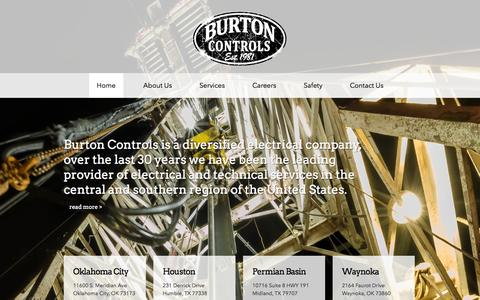 Screenshot of Home Page burtoncontrols.com - Burton Controls | Burton Controls, Inc. - captured Sept. 30, 2014