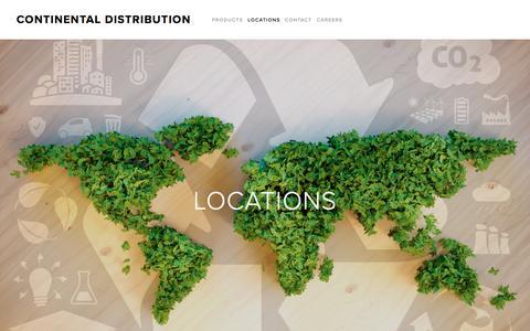 Screenshot of Locations Page continentaldistribution.com - LOCATIONS — Continental Distribution - captured May 21, 2017