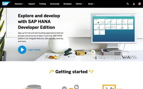 Screenshot of Developers Page sap.com - Resources for SAP Developers | SAP - captured March 29, 2016