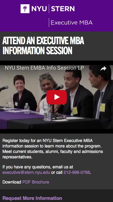 Attend an Executive MBA Information Session