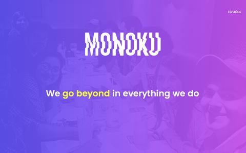 Screenshot of Home Page monoku.com - MONOKU | We go beyond - captured Aug. 5, 2017