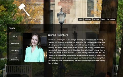 Screenshot of Team Page envisiondo.org - EnvisionDo   Team - captured Sept. 30, 2014