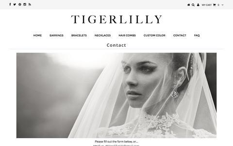 Screenshot of Contact Page tigerlillyjewelry.com - Contact – Tigerlilly Jewelry - captured Jan. 22, 2017