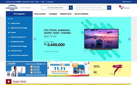 Screenshot of Contact Page electronic-city.com - Electronic City | Juaranya Toko Elektronik - captured Nov. 9, 2018
