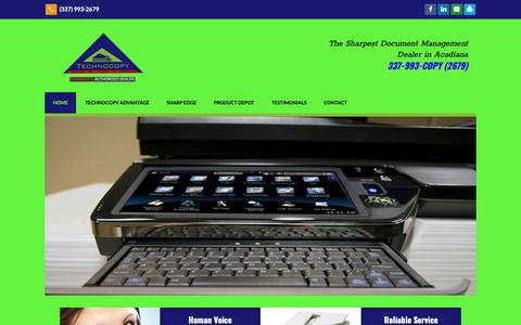 Screenshot of Home Page technocopy.net - Copiers, Printers & Network Scanners | Lafayette, Youngsville, Lake Charles, LA | Technocopy - captured Nov. 15, 2018