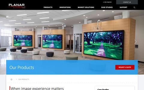 Screenshot of Products Page planar.com - Digital Signage & Custom Solutions | Planar - captured Nov. 7, 2017