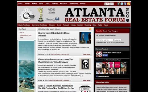 Screenshot of Jobs Page atlantarealestateforum.com - Jobs | Atlanta Real Estate Forum - captured Sept. 22, 2014