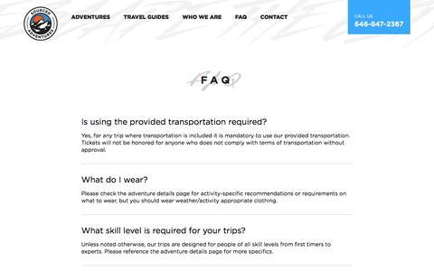 Screenshot of FAQ Page sourcedadventures.com - FAQ - Sourced Adventures | Sourced Adventures - captured Dec. 14, 2016