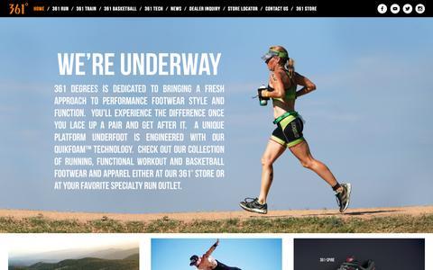 Screenshot of Home Page 361usa.com - 361 - captured Oct. 9, 2015