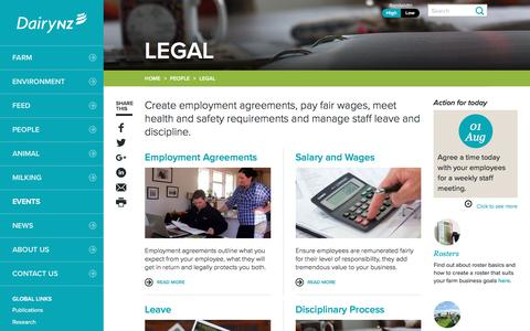 Screenshot of Terms Page dairynz.co.nz - Legal - DairyNZ - captured July 31, 2016