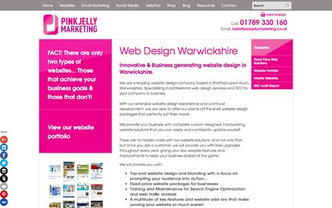 Screenshot of About Page pinkjellymarketing.co.uk - Web design Warwickshire|Web solutions that work hard for your business - captured Jan. 15, 2016