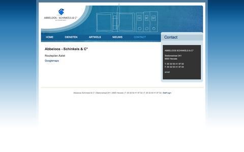Screenshot of Contact Page abbeloosschinkels.be - Abbeloos - Schinkels & C° | Abbeloos - Schinkels & C° Accountants - captured Oct. 4, 2014
