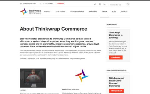 Screenshot of About Page thinkwrap.com - About Thinkwrap Commerce - captured July 5, 2017