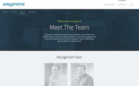 Screenshot of Team Page playphone.com - Meet the Playphone Management Team  | Playphone Inc - captured Nov. 1, 2014