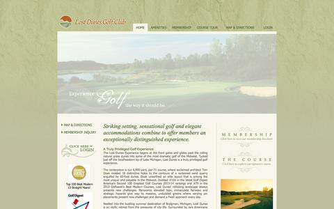 Screenshot of Home Page lostdunes.com - home - Lost Dunes Golf Club - captured Oct. 3, 2014