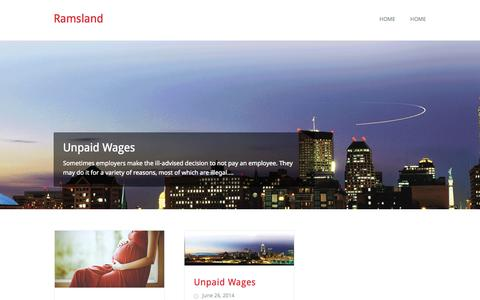 Screenshot of Home Page ramslandlaw.com - Ramsland | Your Employment Rights Attorney - captured Sept. 30, 2014