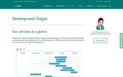 Development Stages - Testbirds