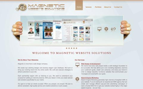 Screenshot of Home Page attractwithmagnetic.com - Magnetic Website Solutions | Web Design & Development Company - captured Oct. 4, 2014