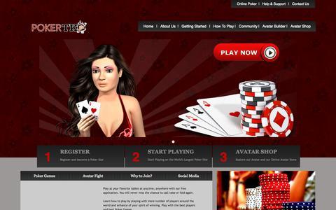 Screenshot of Home Page pokertko.com - Poker TKO - captured Sept. 19, 2015