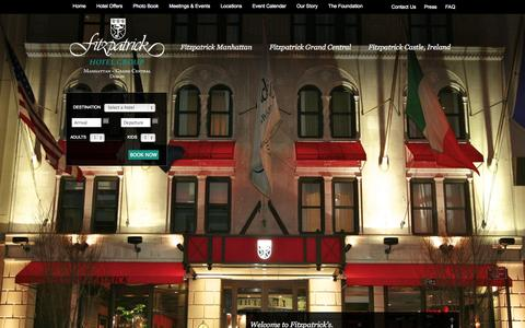 Screenshot of Home Page fitzpatrickhotels.com - 4 Star Hotels NYC, Manhattan & Grand Central   Fitzpatrick Hotel Group - captured Oct. 6, 2014