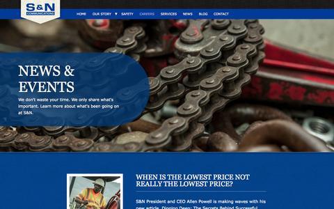 Screenshot of Press Page sncomm.com - News & Events | S&N Communications - captured Oct. 3, 2014