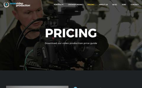 Screenshot of Pricing Page wowvideoproduction.co.uk - Pricing » WOW Video Production - captured June 14, 2017