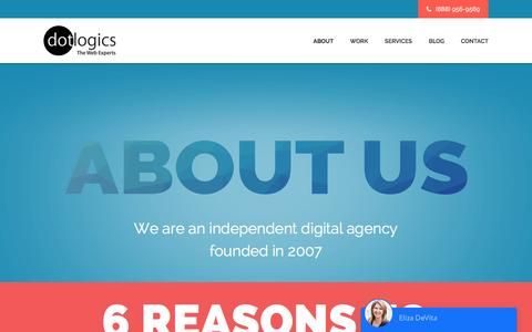 Screenshot of About Page dotlogics.com - About Dotlogics - Web design company in New York - captured May 12, 2017