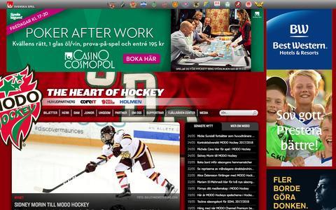Screenshot of Home Page modohockey.se - Start - MODO Hockey - captured May 26, 2017