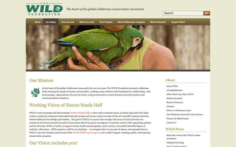 Screenshot of About Page wild.org - The WILD Foundation - About   The WILD Foundation - captured Oct. 7, 2014