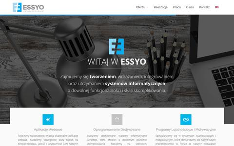 Screenshot of Home Page essyo.pl - Strona Główna - ESSYO - captured Oct. 21, 2018