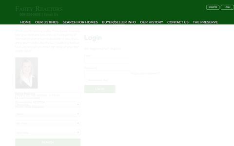 Screenshot of Login Page fahey-realtors.com - User Login    Bernardsville Homes for Sale, Property Search in Bernardsville - captured June 5, 2017
