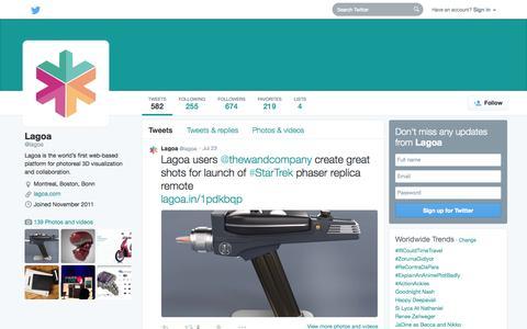 Screenshot of Twitter Page twitter.com - Lagoa (@lagoa)   Twitter - captured Oct. 22, 2014