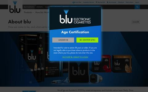 Screenshot of About Page blucigs.com - Learn More About Us | blu eCigs® - captured Sept. 19, 2014