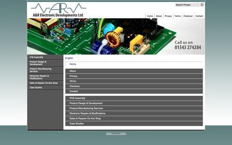 Screenshot of Site Map Page Menu Page arelectronics.co.uk - Map - captured Jan. 21, 2017