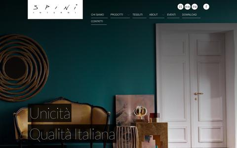 Screenshot of Home Page spini.com - Spini - Complementi d'arredo - captured Oct. 1, 2014