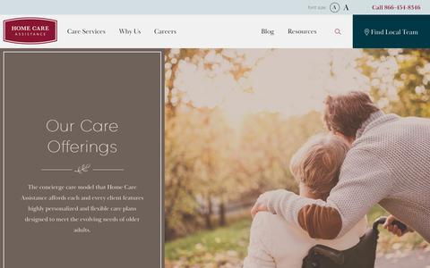 Screenshot of FAQ Page homecareassistance.com - Home Care Assistance | Care Services - captured Sept. 29, 2019