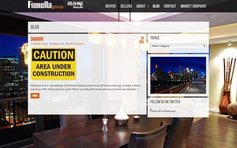 Screenshot of Blog fiorellagroup.com - Blog  |  Fiorella Group - Remax Results - MN Realtor | Real Estate. Different. - captured Oct. 6, 2014
